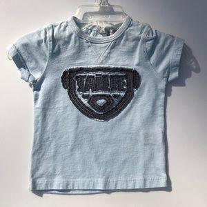 Taille unisex blue cotton shirt